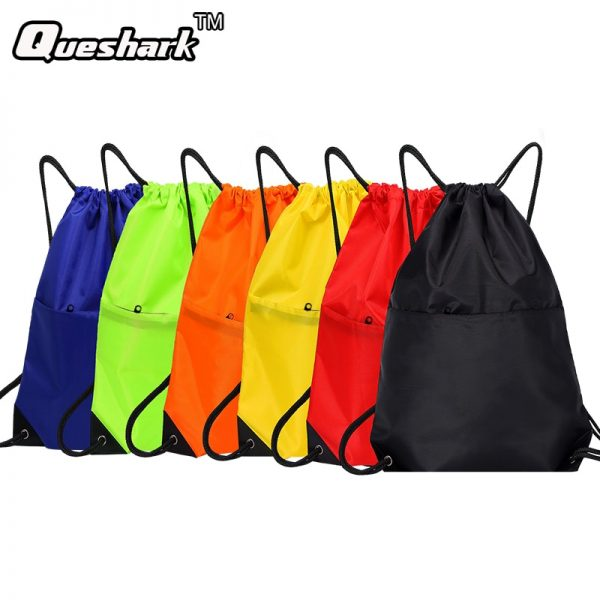 Waterproof-Zipper-Gym-Sport-Fitness-Bag-Foldable-Backpack-Drawstring-Shop-Pocket-Hiking-Camping-Pouch-Beach-Swimming